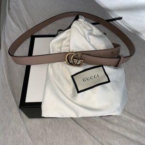 Gucci double G skinny belt